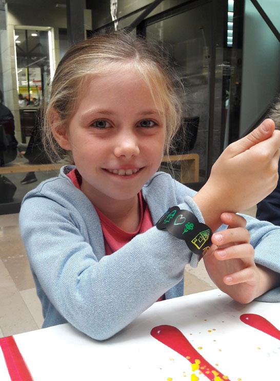 Bracelet en carte à gratter