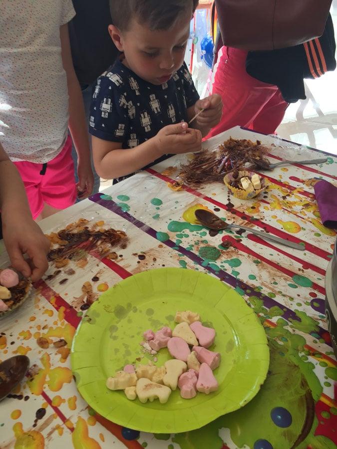 nid de poule en chocolat